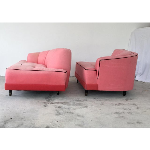 Vintage Pink Sectional Seating Sofa Chairish