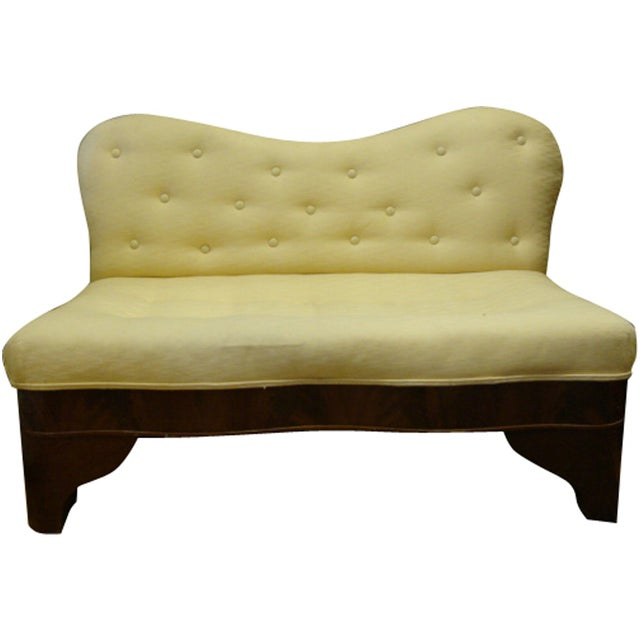 Flame Mahogany Upholstered Bed Bench - Image 1 of 6