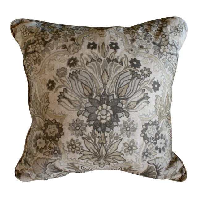 Lee Jofa Grey/Bisque Tetbury Pillow Cover - Image 1 of 6