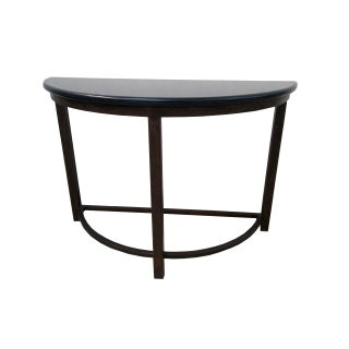 Semi Circle Metal Console Table With Marble Top