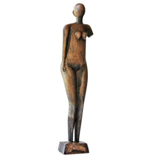 Mid-Century Abstract Bronze Figurative Sculpture
