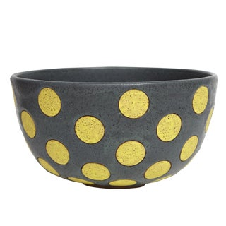 Matthew Ward Yellow Polkadot Bowl