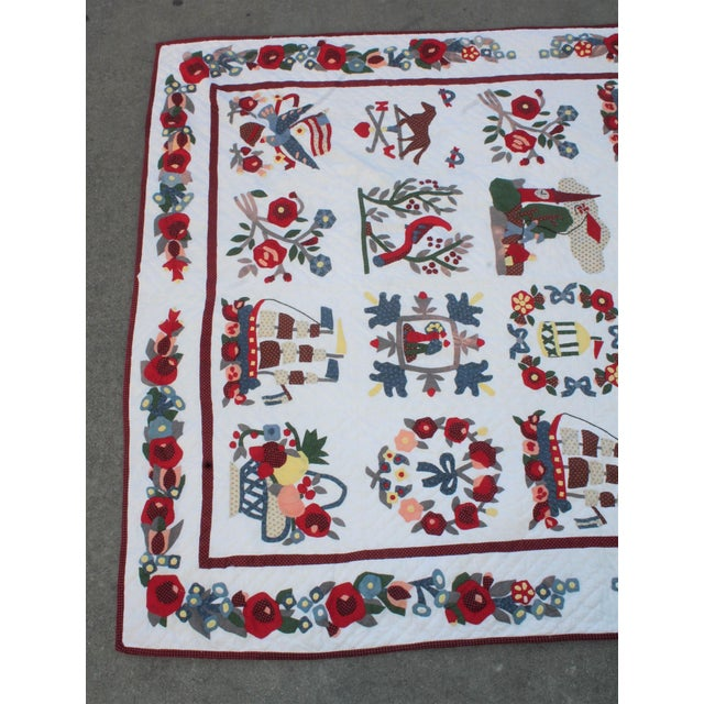 20th Century Hand Made Repro Applique Quilt - Image 3 of 8