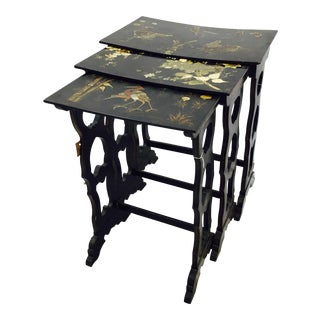 Antique Asian Lacquered Nesting Tables - 3