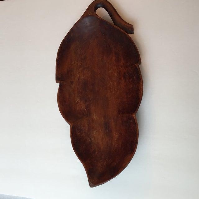 Wood Palm Leaf Platter - Image 6 of 9