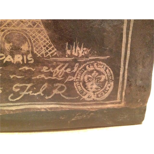 Image of Eiffel Tower Vase Advertising Paris Public Transit