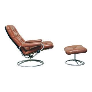 Vintage Ekornes Mid-Century Lounge Chair & Ottoman