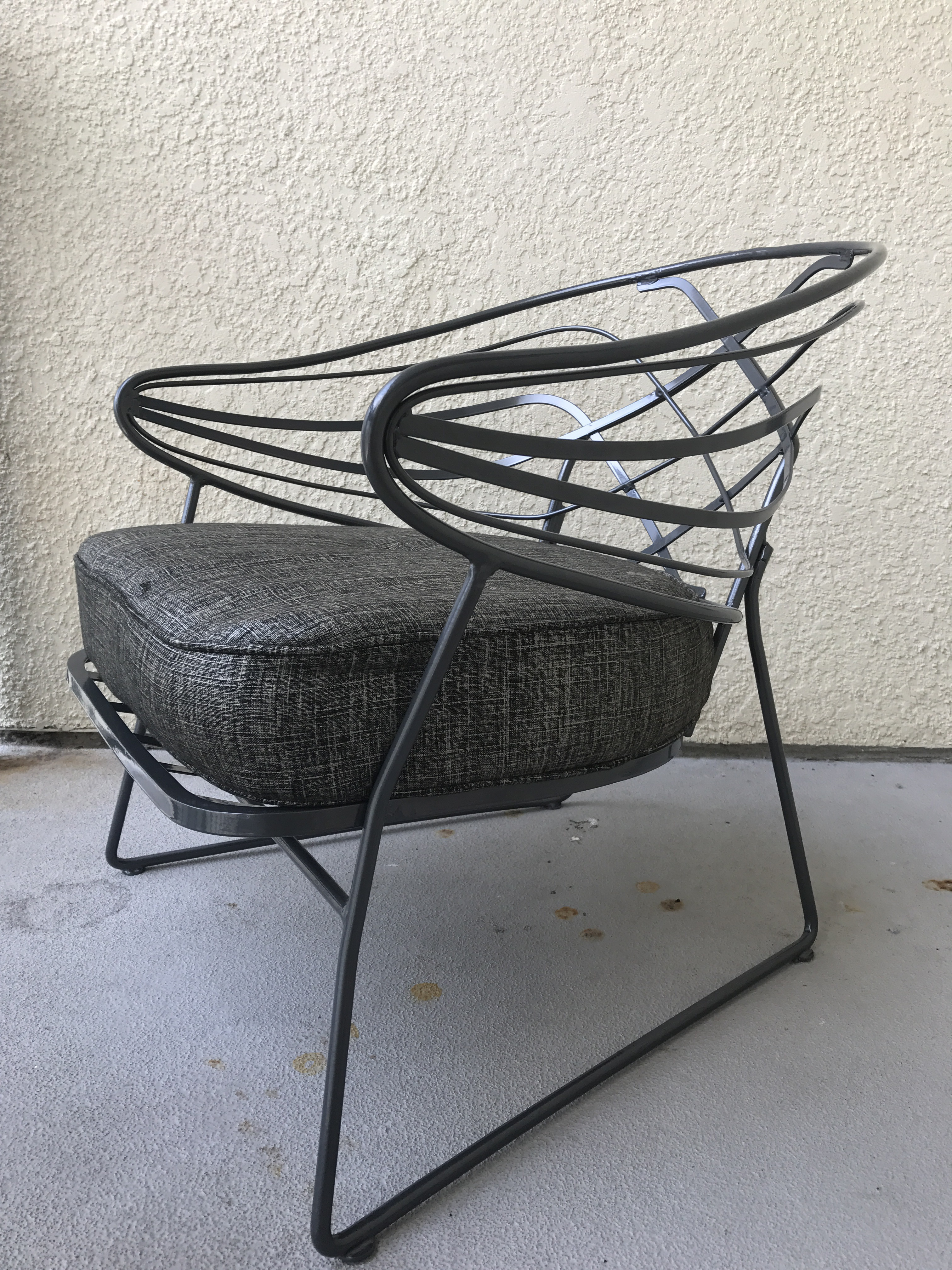 Mid Century Wrought Iron Lounge Chair