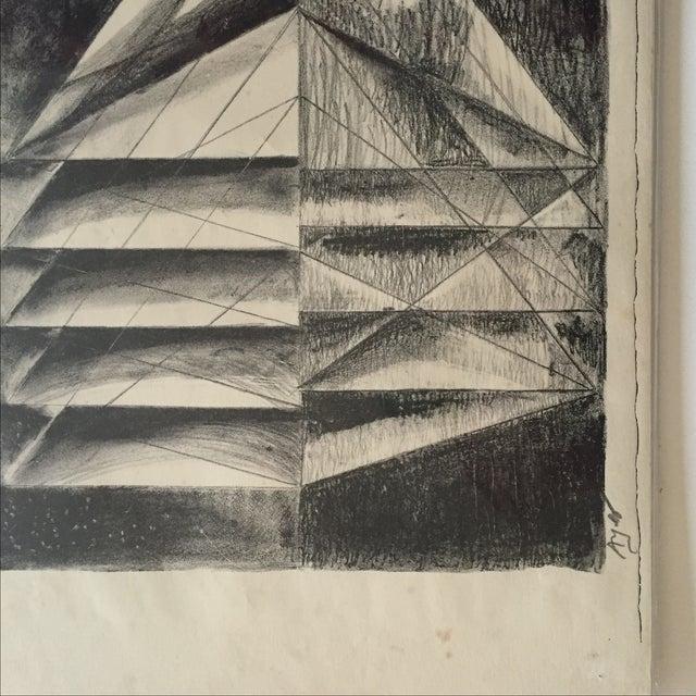 Richard Ayer Vintage Geometric Lithograph Print - Image 3 of 5