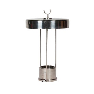 Scandinavian Modernist Nickel Table Lamp with Planter Base, 1930s