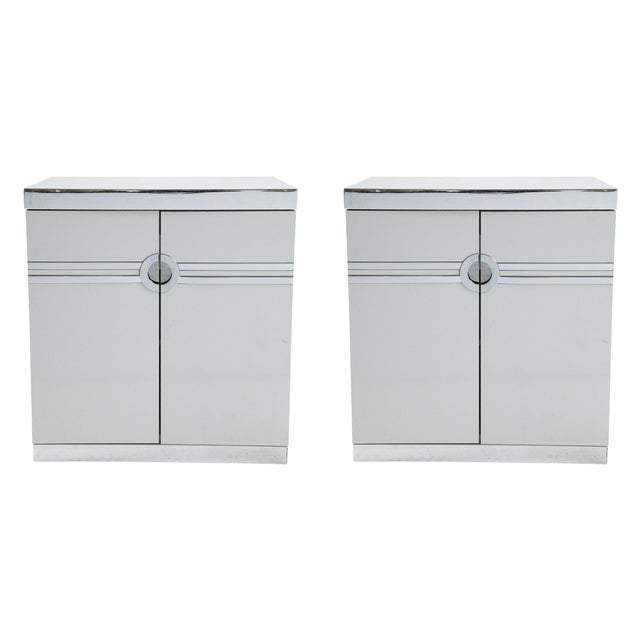 Pierre Cardin for Dillingham Nightstands - Pair - Image 1 of 10