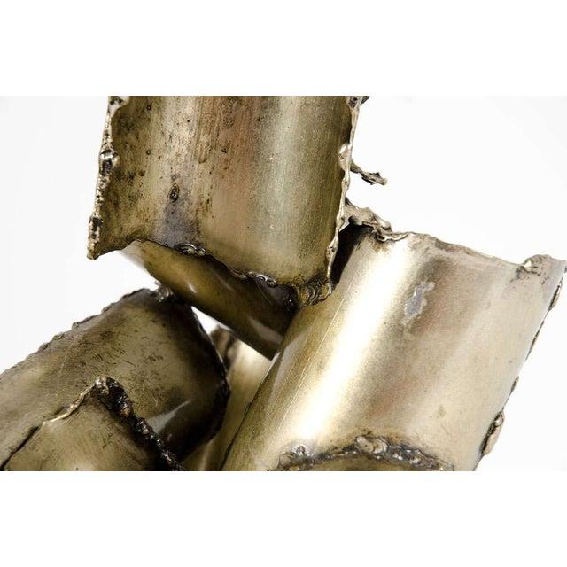 Marcello Fantoni Brutalist Torch Cut Steel Sculpture - Image 6 of 10