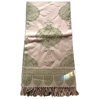 Green Italian Anichini Taormina Throw