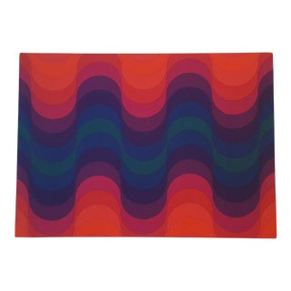 Vintage Verner Panton Pop Art, Fabric Wall Hanging