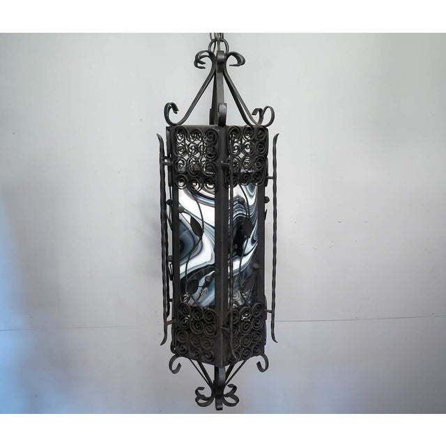 Black & White Iron Pendant Chandelier - Image 3 of 7
