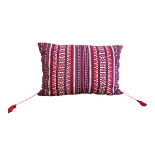 Hand Woven Accent Pillow | Embroidered
