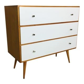 Paul McCobb Style Dresser with Painted Drawers