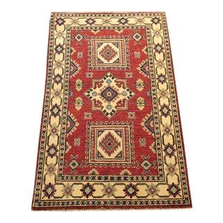 "Handmade Wool Kazak Oriental Rug Pakistan - 3'1"" x 5'"