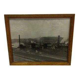 Vintage Black & White Photograph - U.S. Steel Mill Pittsburgh, Pa 1950