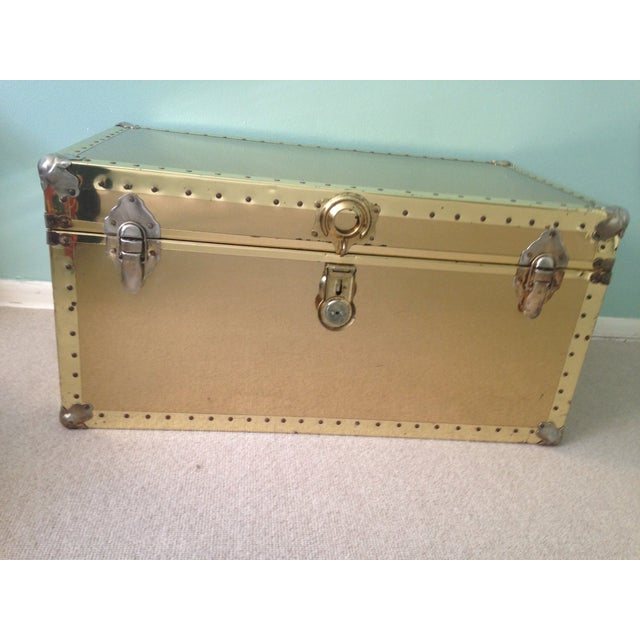 Brass Storage Trunk with Metal Hardware - Image 2 of 7