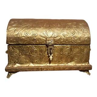Wood & Brass Wrapped Box