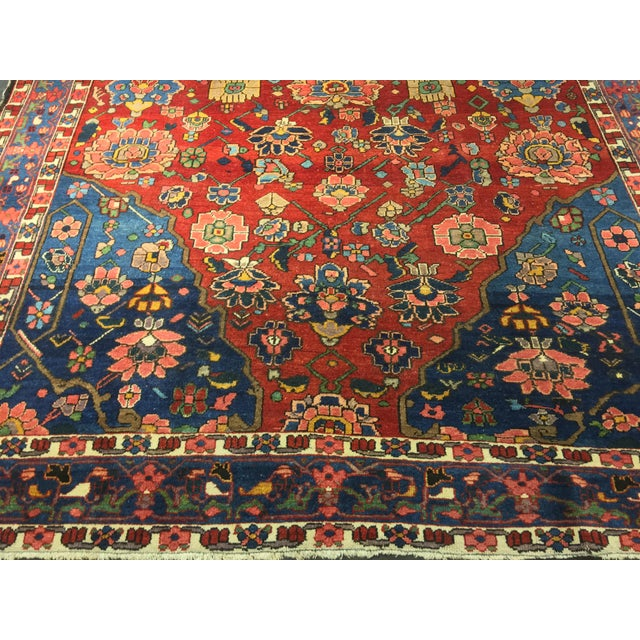 "Vintage Bellwether Rugs Persian Bactiari Area Rug - 6'9""x10'2"" - Image 3 of 11"