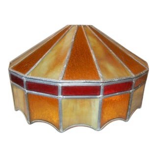 Vintage Stained Glass Slag Shade