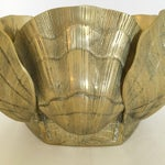 Image of Large Brass Shell Planter