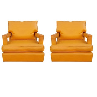 Mid-Century Custom Swivel Arm Chairs - a Pair