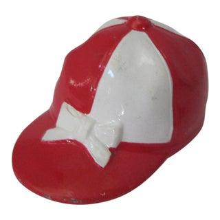 Vintage Red & White Jockey Cap Bottle Opener
