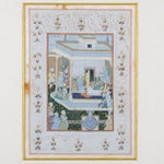Image of Mughal School Painting on Silk - A Pair