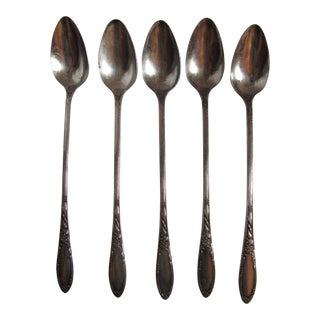 Silverplate Ice Tea Spoons - 6 Pieces