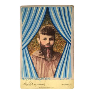 Altered Antique 'Bearded Woman I' Cabinet Card