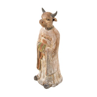 Antique Chinese Zodiac Ox Figurine