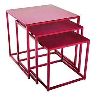 Cromatti Nesting Tables in Raspberry
