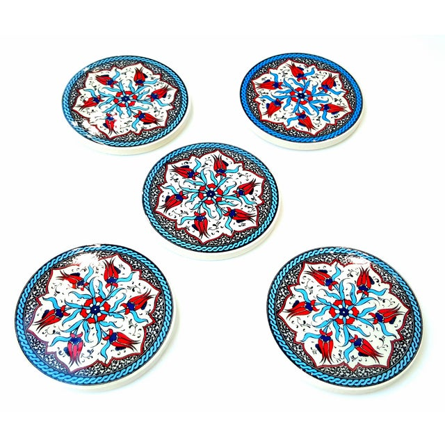Turkish Handmade Coasters - Set of 5 - Image 2 of 3