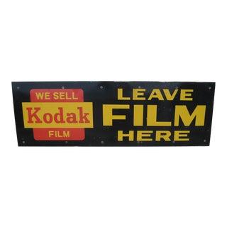 Vintage Kodak Film Porcelain Enameled Sign