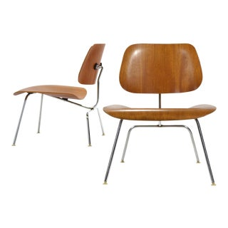 Pair of Teak Eames LCM Lounge Chairs by Herman Miller