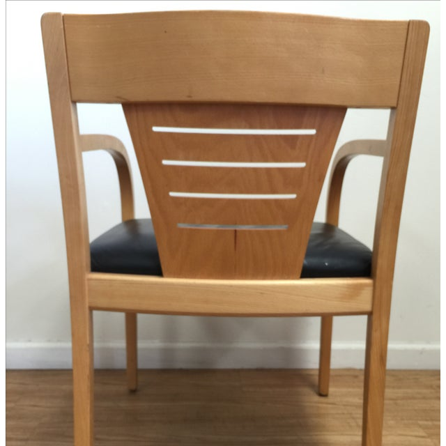 Bentwood and Leather Vecta Arm Chairs - Pair - Image 6 of 9