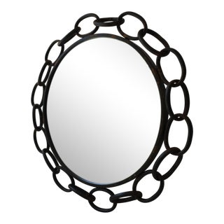 Metal Chain Link Circle Mirror