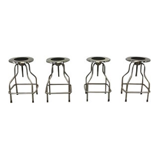 Stainless Steel Revolving Stools -- Set of 4