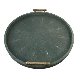 Made Goods Doris Shagreen Large Round Serving Tray