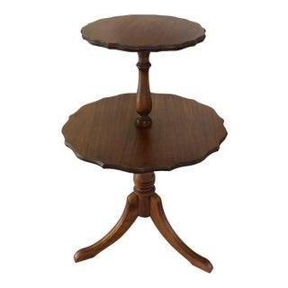 Antique Mahogony Carved Dumbwaiter Table