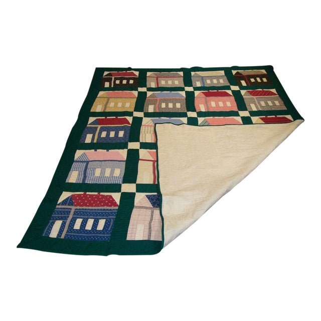 Early 20thC. Folky School House Quilt - Image 1 of 9