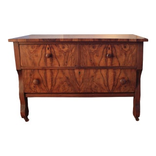 Burlwood Lowboy Chest of Drawers