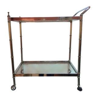 Chrome Italian Bar Cart