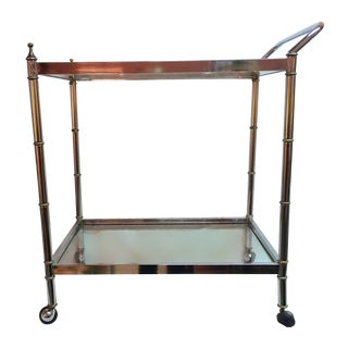 Chrome Italian Bar Cart