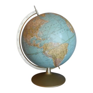 Pale Pastel Mid-Century Globe