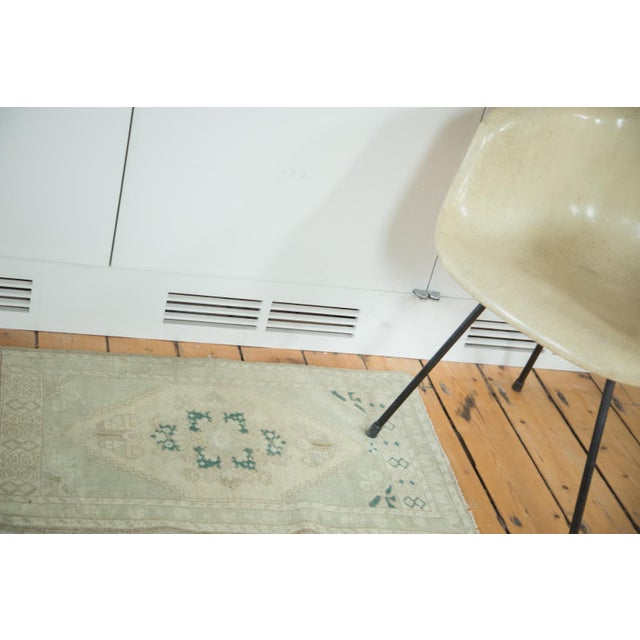 "Vintage Oushak Rug Mat - 1'10"" X 2'10"" - Image 2 of 5"