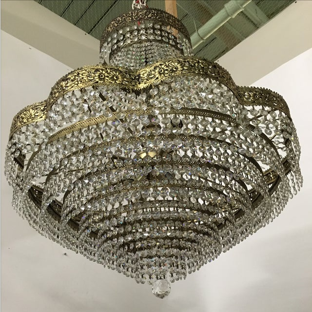 Image of Tiered Scalloped Frame Chandelier